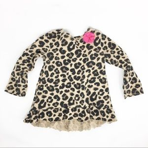 4/$12 JUMPING BEANS Leopard Floral Top 18 Month
